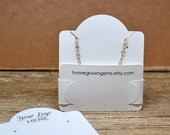 50 Customized Pocket Fold Necklace Cards - Holds Chain - Jewelry Display Cards - Packaging