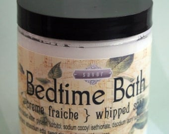 Gentle Soap Bedtime Bath 8 oz Creme Fraiche whipped soap