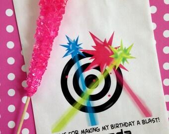 Laser Tag favor bags, Girls Laser tag Birthday Party, Laser tag candy bags, girls, boys, treat bags, candy bags, laser tag party favor