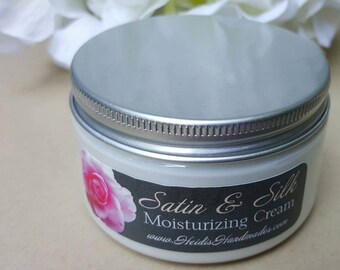 Satin and Silk Moisturizing Cream - Choose Your Scent - Hand and Body Cream