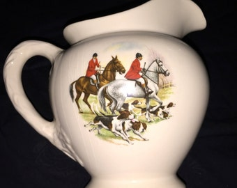 Vintage English Riding Horse Vase