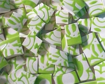 Mosaic Tiles-Lime Calypso-- 75 tiles