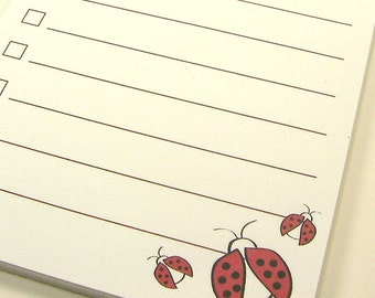 To Do List Magnet NotePad // Lucky Ladybugs