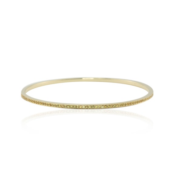 Laurie Sarah Yellow Sapphire Bangle Bracelet in 14k Yellow Gold - LS1412