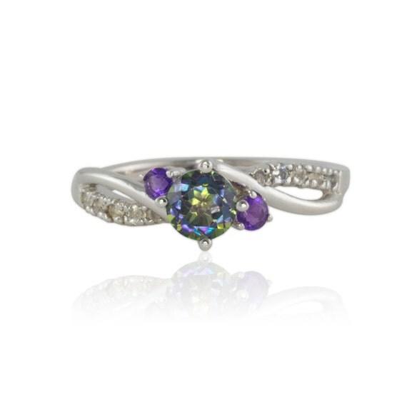 Laurie Sarah Mystic Topaz Ring Rainbow Mystic Topaz Ring In
