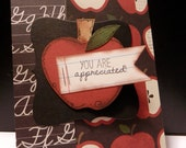 Greeting Card Teacher Back To School You're Appreciated Gift Card Holder Card