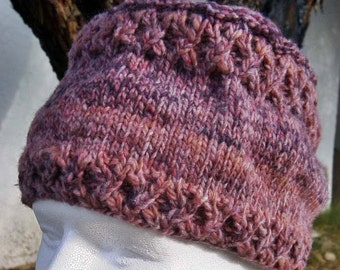 Cabled Flat-Top Cap Knitting Pattern (PDF download)