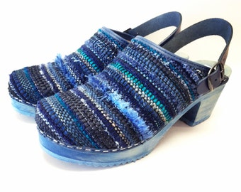 Create your own Handwoven Clog with sling strap or buckled collar-