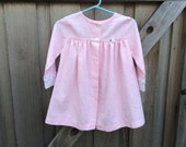 Pink Linen Toddler Coat 4T
