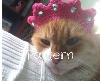 Crocheted Crown for Cats Pattern