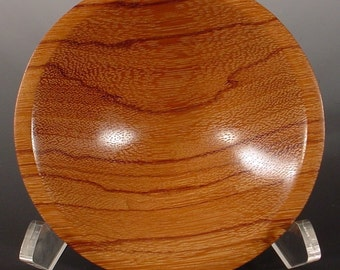 Red Zebrawood Ring or Coin Dish Turned Wooden Bowl Number 5999
