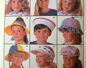 Sewing Pattern Simplicity 7984  Children's Hats  Partially Cut COMPLETE