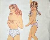 Vintage 80's Sewing Pattern Kwik Sew 1653 Girl's Panties Size 8-14 Complete Uncut
