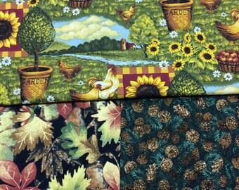 Fall Remnant Fabrics - 12 x 42 qty 3