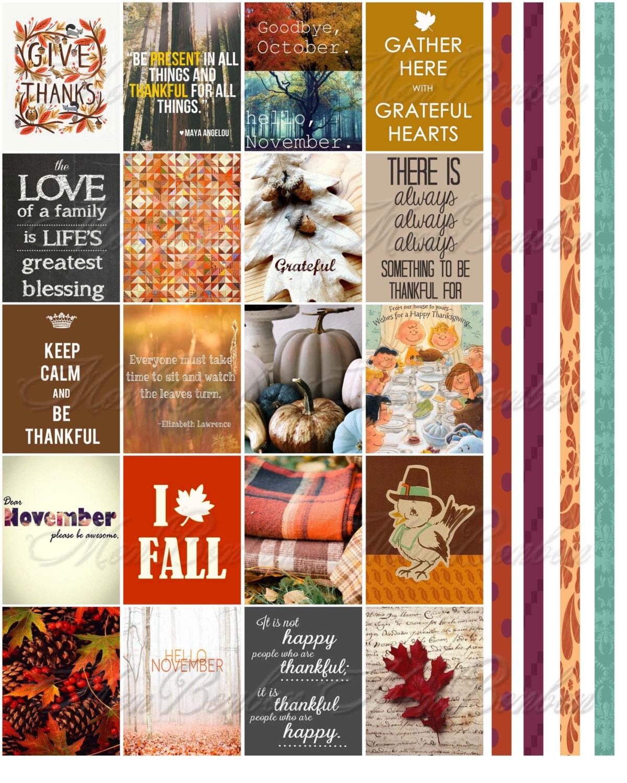 november monthly planner sticker printable download journal zoom