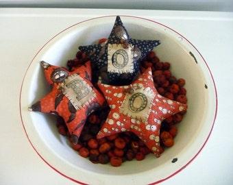 Primitive star Halloween tuck bowl fillers