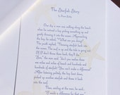 The Starfish Story, letterpress printed small broadside/large card