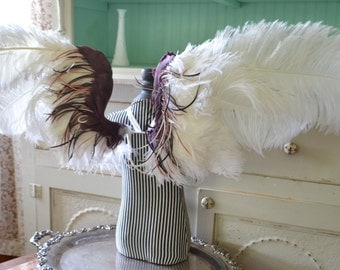Feather Wings Costume Faerie Angel White Ostrich Wings Made to Order
