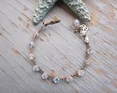 Sparkle , all swarovski crocheted boho crystal bracelet, perfect layering bracelet