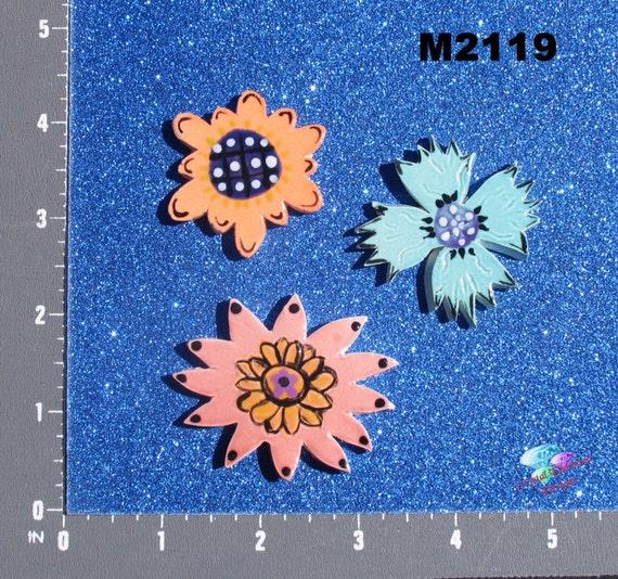 FLOWER and LEAVES Kiln Fired Handmade Mosaic Tiles  M2119