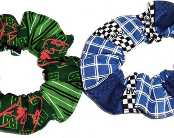 Dale Earnhardt Jr #88 Racing Flannel Cotton Fabric Hair Scrunchie Scrunchies by Sherry NASCAR Ponytail Holders