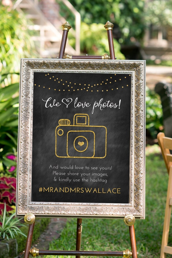 Items similar to printable wedding hashtag sign black for Decor hashtags