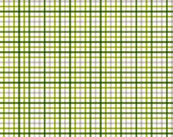 Military Max by Riley Blake and Fabric Shoppe- Military Plaid in Green, Choose Your Cut