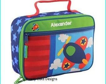 Personalized Airplane, Lunchbox, School, Lunch Sac, Personalized Lunchbox, Kids Lunchbox, Lunch Box, Lunch Pal,