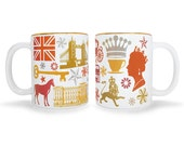 SPECIAL EDITION: Set of 2 Great Britain Mugs with Gold Trim