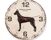 Special Edition: Great Dane Vintage Round Clock