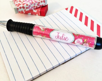 Rose pen, Personalized Pen, Floral Pen, Monogrammed Pen