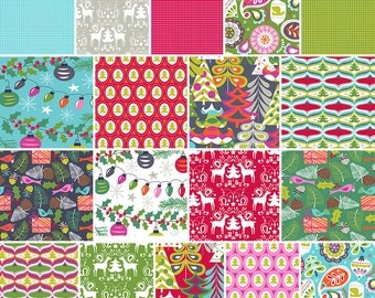 SALE 20% Off Maude Asbury TREELICIOUS Fat Quarters 18 Precut Cotton Fabric Quilting FQs Blend Fabrics
