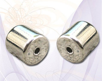 2 (4 pcs) Magnetic Jewelry Clasps, Extra Strong, Shiny Silver Tone, about 6mm x 12mm complete