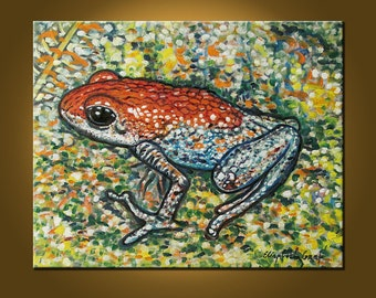 Magic Frog -- 16 x 20 inch Original Oil Painting by Elizabeth Graf on Etsy, READY to HANG, Art Painting Oil