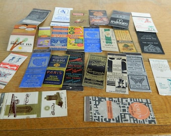 Vintage Match Books Covers---24 Covers---