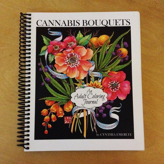 Coloring Journal -Cannabis Bouquets - Complex designs for adults to color
