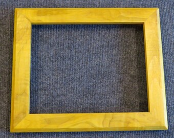 8x10 Curly Maple Picture Frame Yellow dye YY