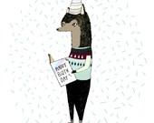 Happy Birthday Wolf Greeting Card