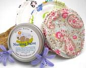 Reusable Nursing Pads, and All Natural Nursing Salve Gift Set - Set of 3, Nursing Pads, Breast Feeding, Newborn, Reusable, Baby Shower