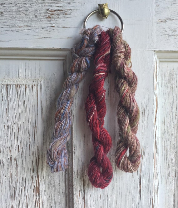Knitting Goddess Mini Skeins : Mini skein bundle skeins of handspun by