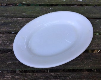 Antique Vintage Creamy White Ironstone Restaurant Hotel China Platter