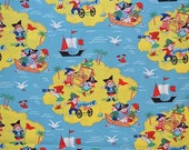 Michael Miller Retro Pirate Treasure Island Fabric