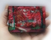 Autumn Beeches, Beech trees, Fall aceo, tree aceo, aceo original, red decor, nature photography, little gifts