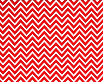 Premier Prints RED COSMOS CHEVRON Fabric By the Yard. Destash Fabric. Home Decor Weight Material. Bedding. Crafts. Modern. SewGracious.