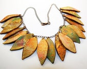 Fall Leaf Necklace w/Kroma Krackle