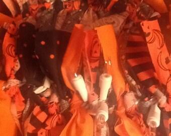 Halloween 'Rag' Swag 9 feet long LIGHTED