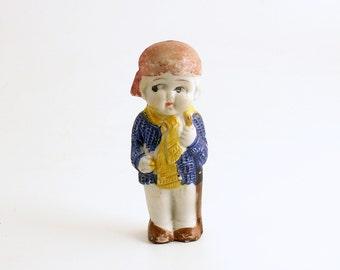 Antique Frozen Charlotte Miniature Doll Bisque