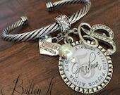 Grandma jewelry, GRANDMA bracelet, Personalized bracelet, Gifts for grandma, Personalized grandma gifts, mom birthday gifts, CUFF bracelet