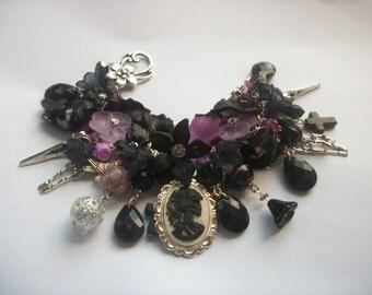 Gothic Girl Halloween 'Lolita' Charm Bracelet