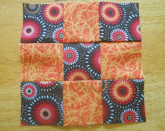 30 Nine Patch Quilt Blocks  6.5 x 6.5